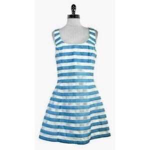 Lilly Pulitzer Joslin White & Blue Striped Dress 4